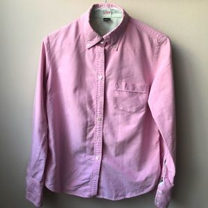 Pink JCREW classic fit long sleeve collared shirt